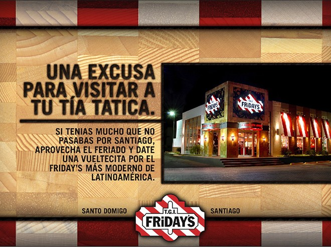 TGI Friday's – Aunt